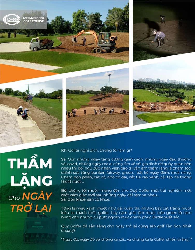 Sân golf Tân Sơn Nhất đang từng bước sẵn sàng cho ngày trở lại, còn Quý Khách thì sao ạ ?!?!